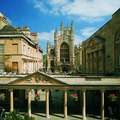 Swimming at the Roman Baths in Bath, England