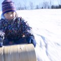 Winter Tobogganing in Ohio
