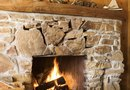 How to Decorate a Rustic Fireplace With String Lights and Twigs Year-Round