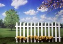 How to Cover a Wall with a Yellow Picket Fence