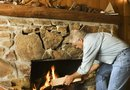 What Type of Wood Do You Use for a Rustic Mantel on a Stone Fireplace?
