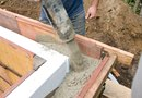Pouring Concrete Raised Vegetable Beds