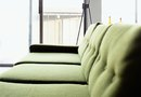 Decorating a Green Sofa