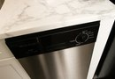 How to Paint a Front Dishwasher a Stainless Steel Color