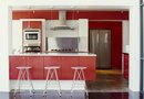How to Decorate a Kitchen With Photos and Red Walls