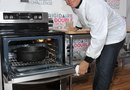 How to Put a Kenmore Stove Door Back On