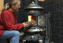 How to Use Concrete Pavers for a Wood Stove Hearth
