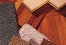 How to Install Carpet Tiles With Hardwood Flooring on Half of the Room