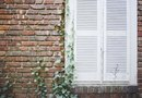 How to Install Wood Shutters on Brick