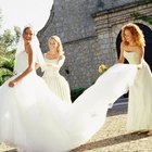 How to Tie a French Bustle in a Wedding Gown
