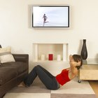 Recess your LCD TV into the wall to save space.