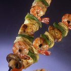 What Goes on Shrimp Shish-Kabobs?