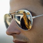 How to Get Scratches Out of Blue Mirror Sunglass Lenses