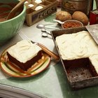 Storage for a Sheet Cake With Whipped Cream Icing