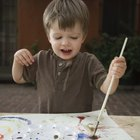 Toddlers Activities With Rolling Paint