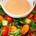 One-half cup of creamy dressing provides more than 500 calories.