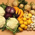 Fruits and vegetables are high in vitamins and minerals.