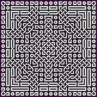 Celtic geometry uses a grid of interlacing knots.