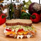 This turkey sandwich contains all three macronutrients: protein, carbohydrates and fat.