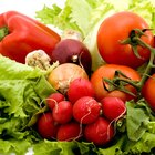 Vegetables are rich in vitamins A and C, fiber and potassium.