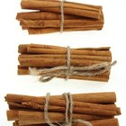 Cinnamon stick bundles are hung in Wiccan kitchens as charms.