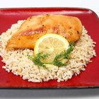 Baked chicken is a healthy protein option for meals.