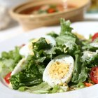 Soup and salad are common midday offerings on restaurant menus.