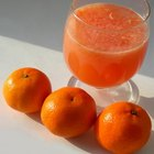 Vitamin C in orange juice enhances iron absorption.