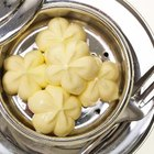 The 45 calories per pat of butter add up quickly when melted on rolls, corn, potatoes and vegetables.