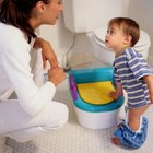 A small potty helps your little one get comfortable in the bathroom.