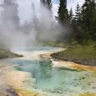 The hot springs and geysers of Yellowstone National Park are examples of groundwater that has come back to the surface.