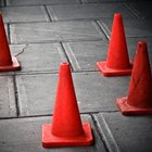 Traffic cones are made out of recycled vinyl.
