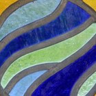 Create a stained glass effect with a stencil and glass paint.