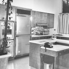 Kitchen furniture in the 1950s style was sleek and modern.