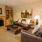 A comfortable conversation area allows for easy access to the fireplace.