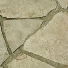 Filling cracks between slate tiles with sand is perfect for desertscapes.