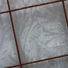 Don't spray lubricant on the floor to avoid discoloring the grout.