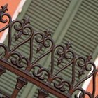 Ornate fence details require small sanding heads to get into the tight areas.