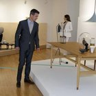 The Crown Prince and Crown Princess of Denmark at a Finn Juhl exhibition.