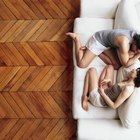 Panels can be bought with a herringbone pattern.