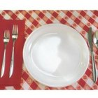 Plaid and gingham shirts make charming placemats.