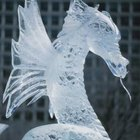 Ice sculptures add drama to a buffet setting.