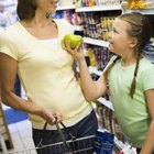 Older children can help find items on the list while you grocery shop.