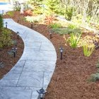 Mulch can be used for weed suppression around pathways.