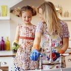 Encourage children to develop good cleaning habits at a young age.
