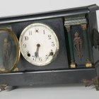 Black mantel clocks were very popular.