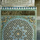 Patterns in Moroccan art and architecture display brilliant colors.