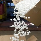 Traditional packing peanuts are number 6 plastic.