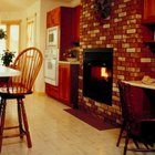 Use brick as a fireplace surround to highlight the fireplace.