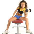 The Best Exercise Workouts With Dumbbells for a Woman's Chest